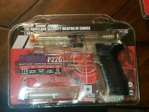 Sig Sauer P226 Airsoft Softair Pistol Clear w/ Target 292 FPS BBs SigArms Sealed