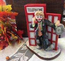 Emmitt Kelly, Standing In/out Telephone Booth, Great, By Flambro