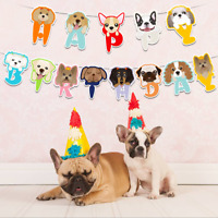 Dog Party DIY Banner Bunting Garland Banner Pet Birthday Flag Hanging Decor