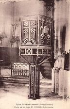 SAINT-LAURENT église chaire en fer forgé M. Desbarax ferronnier écrite 1937