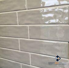 Subway Tiles Metro Light Grey Gloss 75x300mm - **Sold per Square Metre**