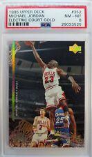 1995-96 UD Electric Court Gold Michael Jordan #352, PSA 8, Pop 3, Only 7 Higher!