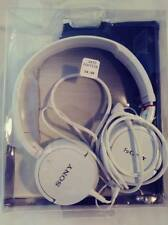 SONY HEADBOAND STEREO HEADPHONES MDR-ZX100 WHITE FREE FAST SHIPPING
