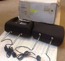 New Invision REV2-83150 Dual Headrest DVD Monitor Mortar/Dk. Flint