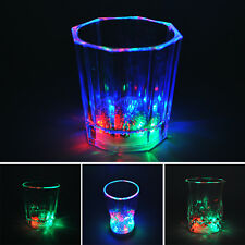New LED Flash Light Whisky Shot Drink Glass Cup Beer Bar Party Wedding Club Cute