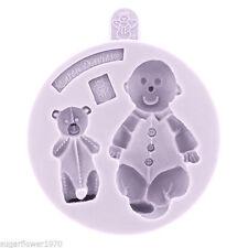 Karen Davies Baby and Teddy Sugarcraft Mould  NEXT DAY DESPATCH