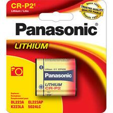 Panasonic CR-P2PA/1B CRP2 DL223, 6v Photo Lithium Battery