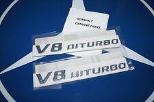 Mercedes Benz Genuine Trunk V8 Bi Turbo Emblem Badge 2218171715