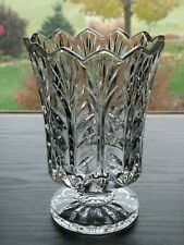 5th Avenue PORTICO 24% Lead Crystal Hurricane Candle Holder