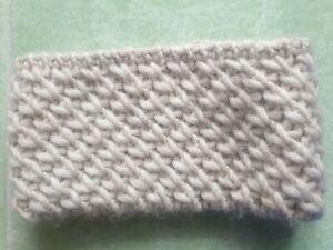 Stirnband Wolle Selbstgemacht Creme Dick Winter Warm Frauen Handarbeit Gestrickt