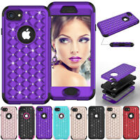Girl Crystal Glitter Bling Women Protective Phone Case For Apple iPhone 7 8 Plus