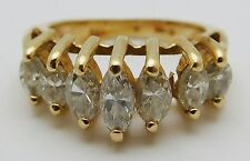 BEAUTIFUL Solid 14k Yellow Gold Diamonds / Ladies Ring * 1.00 CT TWT * Size 3.75