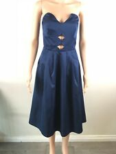 Premonition Womens Evening Cocktail Dress Formal Strapless Size 10