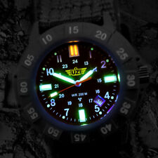 TRITIUM Tech UZI Bright Light Black Faced Tritium Protector Watch Nylon Strap