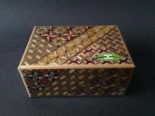 Japanese Wooden Yosegi Secret Puzzle Trick Box HK-123 (10 Steps), Made in Japan