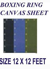Boxing ring canvas sheet 12x12 feet in Black, Blue and Green