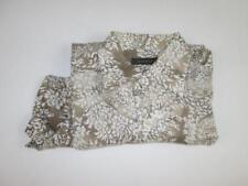 ERMENEGILDO ZEGNA MENS BROWN/WHITE PAISLEY DRESS SHIRT LINEN SZ: L NEW $440