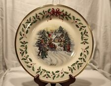 Lenox ~The Annual Holiday Collector Plate 2001 11th in Series Made in Usa