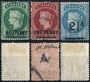BRITISH ST. HELENA, CLASSIC UNCHECKED LOT OF 3 DIFF. MINT STAMPS, SEE.... #804