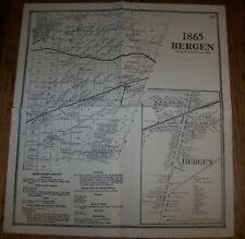1865 ANTIQUE MAP OF THE TOWN OF BERGEN NY NEW YORK