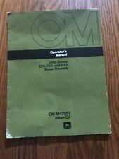John Deere 526, 726, 832 Snow Blowers OMM47057 Operator's Manual