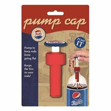 Jokari Pepsi Heritage Soda Bottle Pump Cap Fizz Keeper