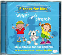 Wiggle & Stretch  Activity Fitness CD for Kids. + words and actions booklet. NEW