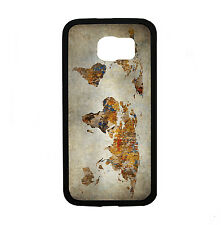 Grunge World Map for Samsung Galaxy S6 i9700 Case Cover