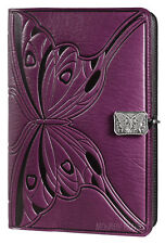 Butterfly Journal 100% leather artisan-made Oberon Design 6x9 Large Orchid JLM46