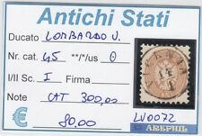 ANTICHI STATI - LOMBARDO VENETO - LV0072 - NR. 45 USATO - CATALOGO 300€