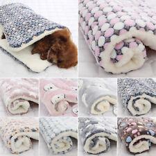 Pet Cat Dog Bed Blanket Mattress Winter Comfy Calming Kennel Fleece Sleeping Mat