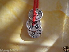 3 Chinese Coins CHARM/TALISMAN/Luck/Prosperity/Wealth Pure Energy