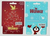 WAWA Gift Card LOT of 2 - Christmas / Holiday 2019 / Snowman, Lights - No Value