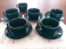 Arabia Teema Kilta cup and saucers green Finland