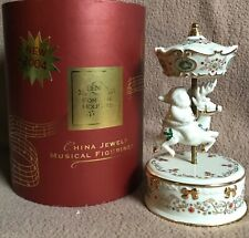 Lenox Holiday China Jewels Musical Figurines From 2004 In The Box