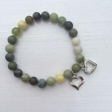 St. Valentines Day Connemara marble heart Irish made bracelet. Jewellery gift