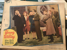 """Young And Willing 1943 United Artists 11x14"""" lobby card William Holden Susan Hay"""