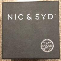 NIC & SID Men's Hudson Swarovski Crystals Watch.  Stunning and Unique Timepiece.