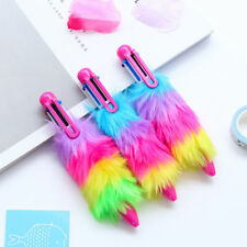 1pc Multi-color Ballpoint Pen 6 in 1 Plush Gel Pens Kid School Writing Supply
