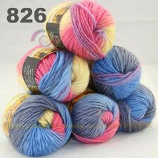 SALE 1conex 500gr Soft NEW Chunky Colorful Hand Knitting Scores Wool Yarn 5810