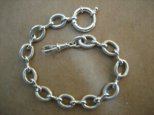 Vintage Unique  S/Silver  Pocket  Watch Chain 8.1/2in. Long