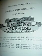Antique, BLISS, lithographed wood on wheels Noah's Animal ARK No. 270 pull toy
