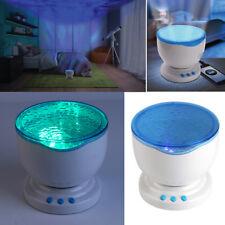 OCEANO MARE ONDE LED Luce Notturna Bambini Lampada Proiettore Di Soffitto Con Altoparlante Indoor
