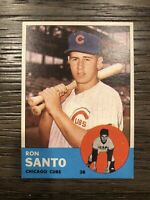 1963 Topps Ron Santo Gorgous Centered And Sharp Chicago Cubs