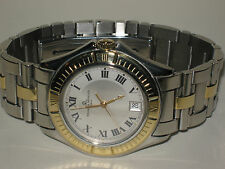 Baume & Mercier Men's Watch--solid 18 K Gold & SS---37 mm --Rare Malibu Edition