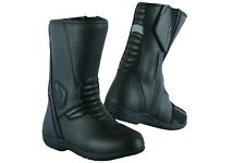 New Motorbike Motorcycle Touring Leather Shoes Boots Touring Shoes Raxid Black
