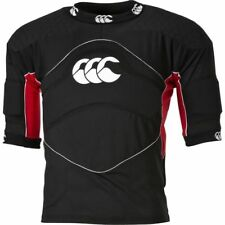 Mens Canterbury Flexitop Plus Black Rugby Padded Armour