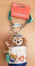 RARE JAPAN Tokyo Disney Sea Duffy Spring Voyage 2012 Plush Duffel Bag Neck Strap