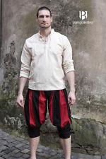 Medieval Landsknechthose Maximilian Trousers Larp - Red/Black By Burgschneider