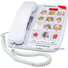 Picture Care Phone 911 Button +40dB Hearing Aid Photo Dial Future Call 1007